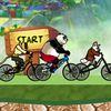 панда - Кунг Фу панда на велосипеде