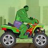 гонки - Халк гоняет на мотоцикле