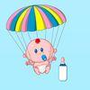 леталки - Крошечный парашютист в облаках