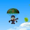 самолеты - Парашютист летит по небу