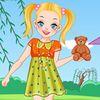 мода - Девочка брюнетка на поляне