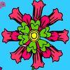 цветы - Раскраска с цветочками