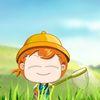детские - Ловим сачком бабочек