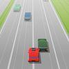 гонки - Красная машина на опасной трассе