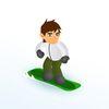 бен 10 - Крутой сноубордист Бен 10